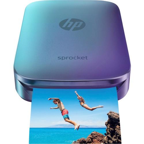 HP - Sprocket Photo Printer - Blue/Violet