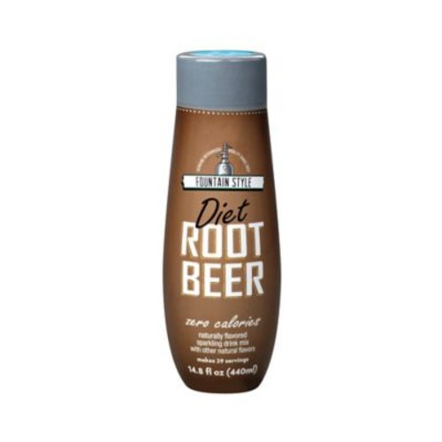 Sodastream Fountain Style Diet Root Beer Flavored Sparkling Drink Mix