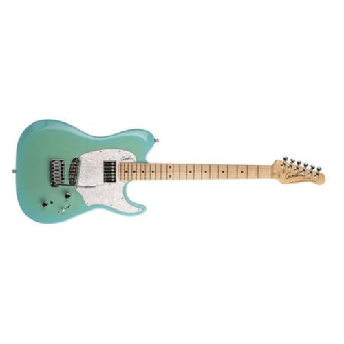 Godin Session Custom 59 6-String Electric Guitar, Maple, Limited Coral Blue HG