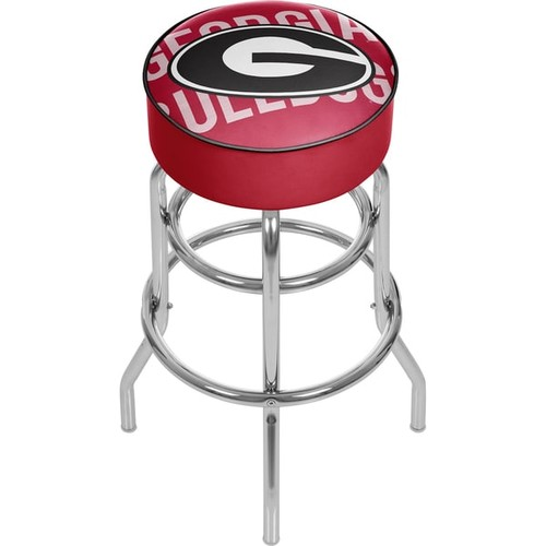 University of Georgia Padded Swivel Bar Stool - Wordmark