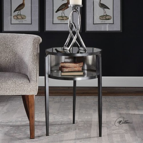 Uttermost Coffee, Console, Sofa & End Tables Uttermost Gustav Black Iron Accent Table