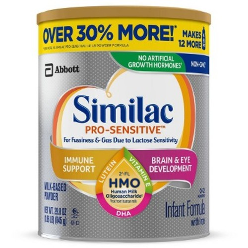 Similac 4pk Pro-Sensitive HMO Infant Formula Powder Value Size - 29.8oz