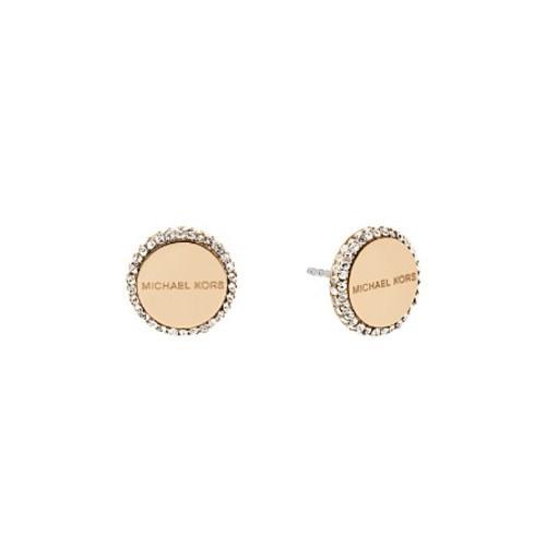 MICHAEL KORS Pavé Logo Stud Earrings