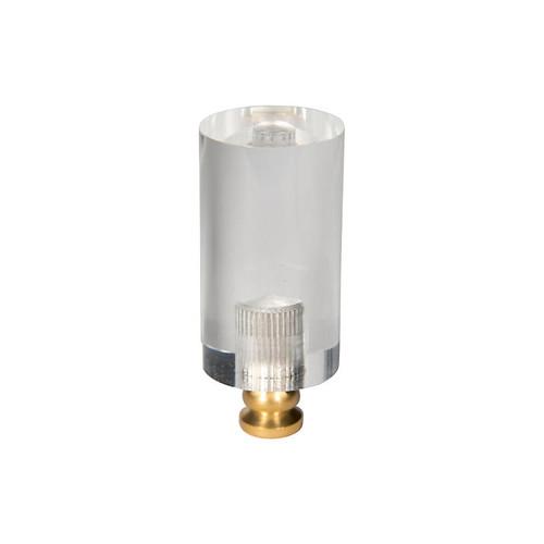 Cylindrical Rod Finial, Clear/G