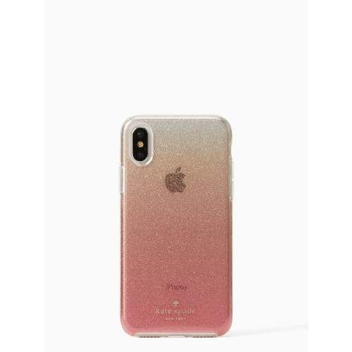 glitter ombre iphone x case
