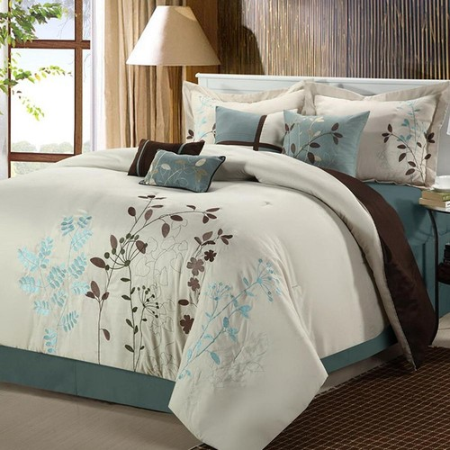 Bliss Garden 8-pc. Beige Comforter Set