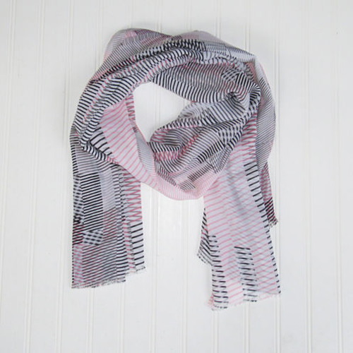 Design Imports Skinny Stripe Scarf