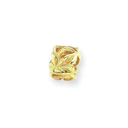 Leaf Charm in Yellow Gold for 3mm Charm Bracelets