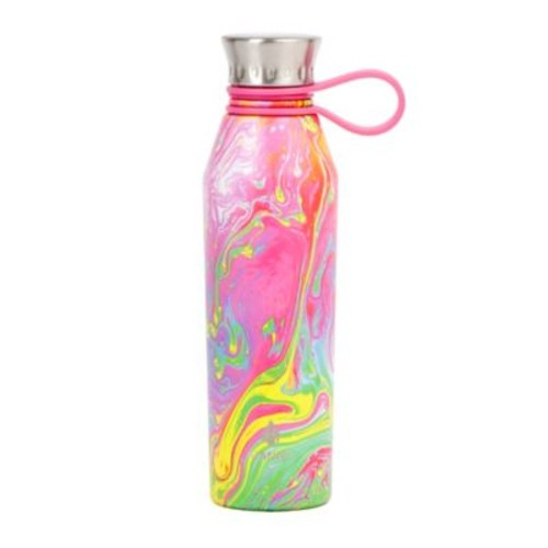 Manna Haute 18 oz. Double Wall Stainless Steel Water Bottle in Psychedelic
