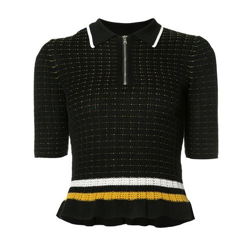 3.1 PHILLIP LIM Short Sleeve Zip Collar Top