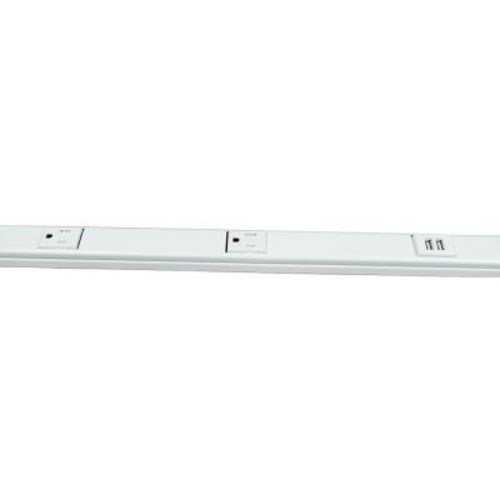 Legrand Wiremold 3 ft. Plugmold USB Multi-Outlet Strip with Tamper Resistant Receptacles - White