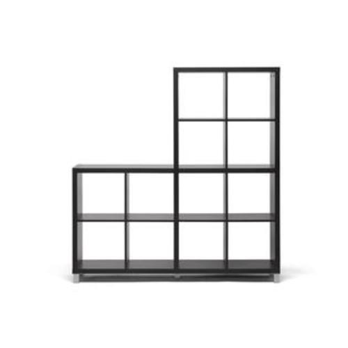Wholesale Interiors CB-2224 Sunna Dark Brown Modern Cube Shelving Unit