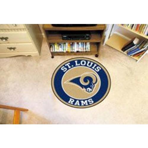 FANMATS NFL Los Angeles Rams Roundel Mat
