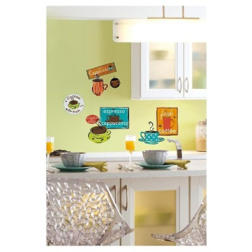 ROOMMATES RMK1740SCS Caf Peel and Stick Wall Decals