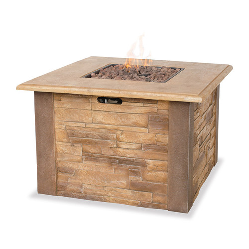 UF Stacked Stone LP Gas Fire Pit