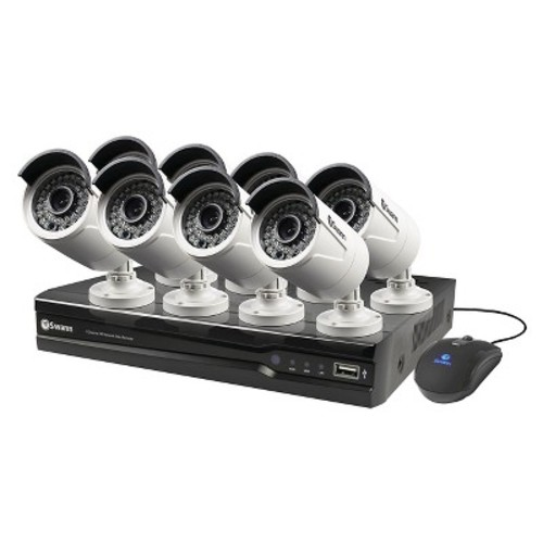 Swann NVR8-7300 8 Channel 3MP Network Video Recorder & 8 x NHD-815 3MP Cameras