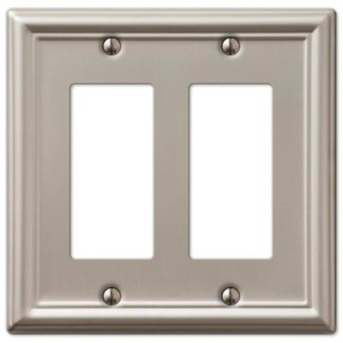 Chelsea 2 Decorator Wall Plate - Brushed Nickel-DISCONTINUED
