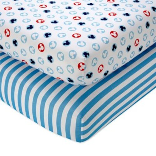 Disney Mickey Mouse Fitted Crib Sheets (Set of 2)