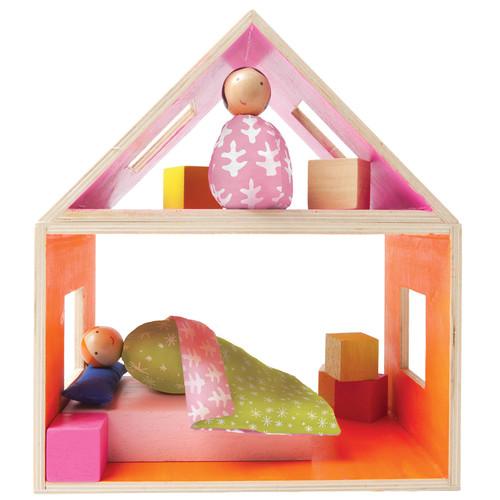 Manhattan Toy MiO Sleeping + 2 People Modular Wooden Building Set