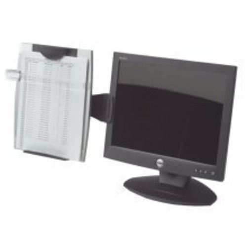Fellowes(R) Office Suites Monitor Mount Copyholder, Black/Silver
