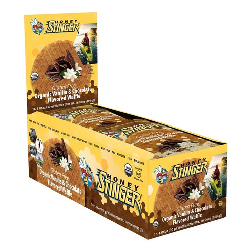 Honey Stinger Gluten Free Organic Waffle 16 pack [Flavor : Vanilla/Chocolate]
