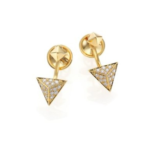 Astrid Diamond & 18K Yellow Gold Ear Jacket & Stud Earrings Set