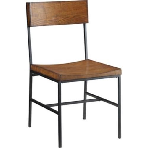 Carolina Cottage Berkshire Metal Dining Chair, Black/Chestnut