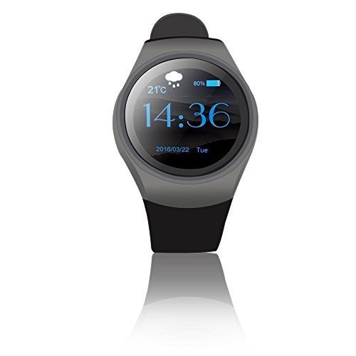 Indigi Android A18 SmartWatch - Bluetooth 4.0 Sync + Pedometer + Accurate Heart Rate Sensor + Notifications ( ONLY Compatible with Android SmartPhones)