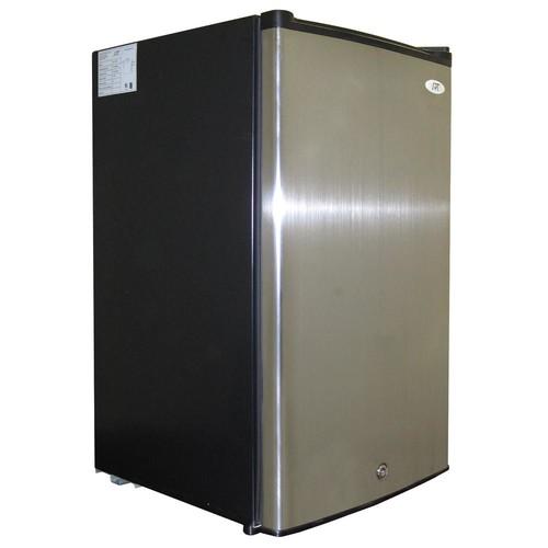 SPT 3.0 cu. ft. Upright Freezer in Stainless Steel/Black