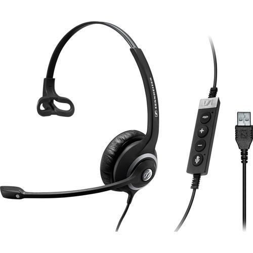 Sennheiser SC 230 USB CTRL - headset - On-ear, Monaural - Black, silver