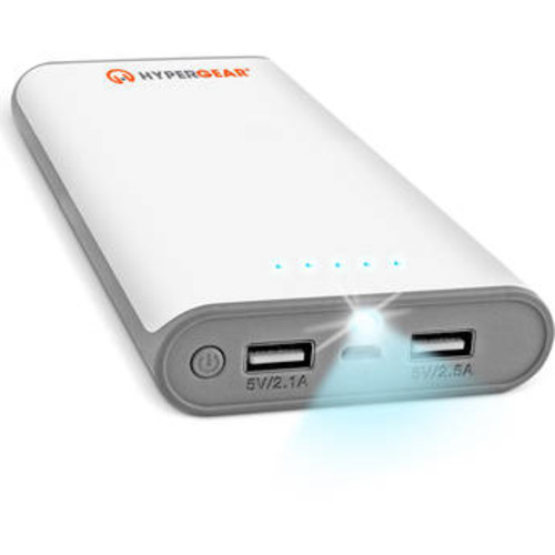 HyperCel 16000mAh Dual USB Power Bank with 2.1A+2.5A Output