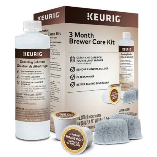 Keurig Brewer Care Kit with Descaling Solution and 2 Water Filter Cartridges, Compatible With All Keurig 2.0 and 1.0 K-Cup Pod Coffee Makers