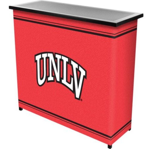 Trademark Poker LRG8000-UNLV UNLVT 2 Shelf Portable Bar with Case
