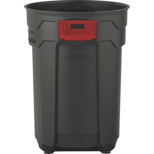 Suncast 44-Gallon Utility Trash Can  Gray,