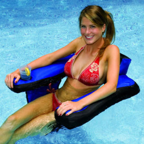 Swimline Covered U-Seat Inflatable Pool Lounger