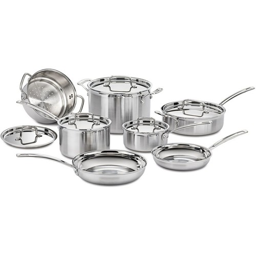 MultiClad Pro Triple-Ply Stainless Steel 12-Piece Cookware Set