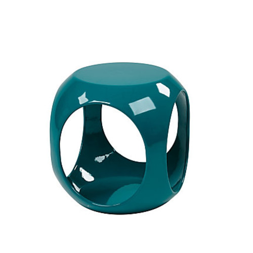 Ave Six Slick Table, Accent, Round, High-Gloss Blue