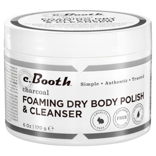c.Booth Charcoal Foaming Dry Body Polish & Cleanser - 8 oz