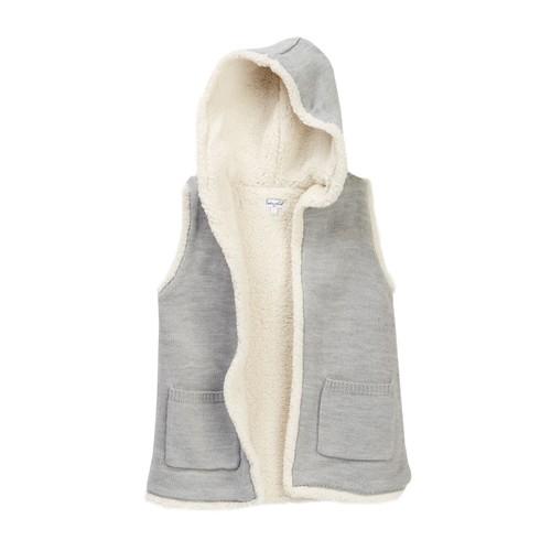 Hooded Faux Shearling Vest (Little Girls)