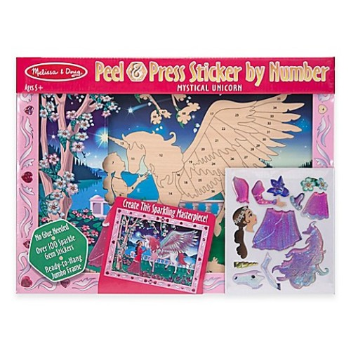 Melissa and Doug Mystical Unicorn Peel & Press Sticker by Number