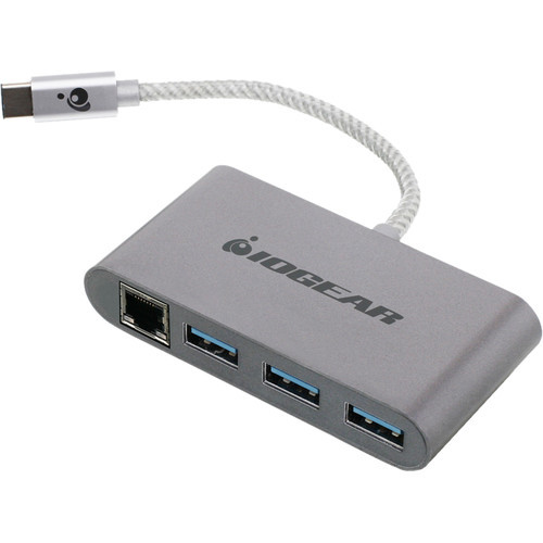 Gigalinq USB Type-C to USB Type-A Hub with Ethernet Adapter