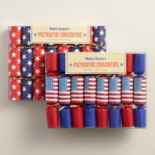 Mini Patriotic Crackers, Set of 2