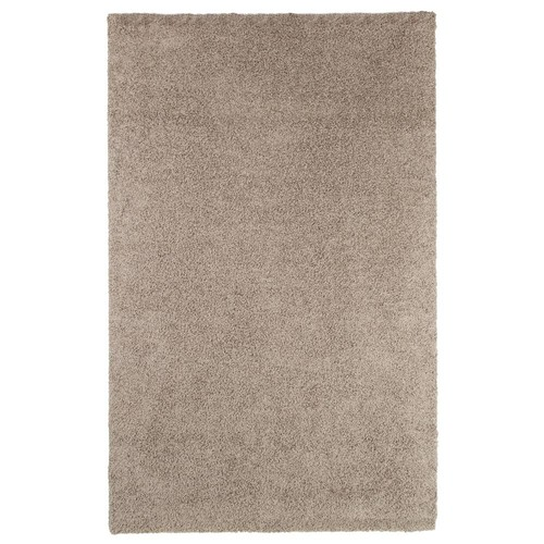 Lavish Home Shag Taupe 3 ft. 3 in. x 5 ft. Indoor/Outdoor Area Rug