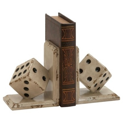 Dice Bookends 2-piece Set