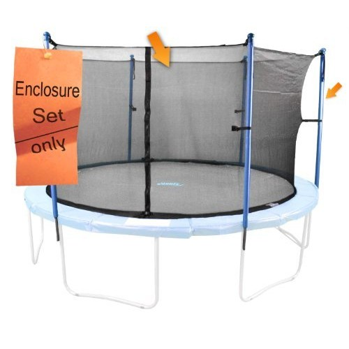 6 Pole Trampoline Enclosure Set to fit 12 FT. Trampoline Frames with set of 3 or 6 W-Shaped Legs (Trampoline Not Included): Toys & Games