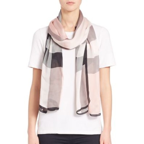 BURBERRY Mega Check Ultra-Washed Satin Scarf