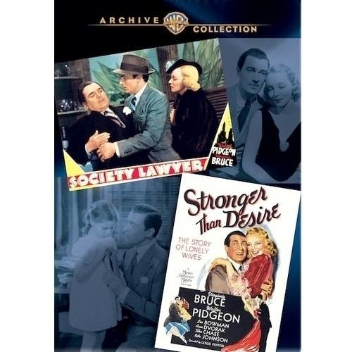 Society Lawyer/Stronger Than Desire [2 Discs] [DVD]