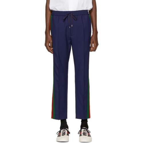GUCCI Navy Wool Cropped Trousers