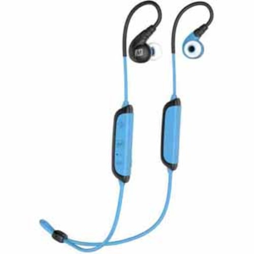 MEE audio X8 Secure-Fit Stereo Bluetooth Wireless Sports In-Ear Headphones - Blue