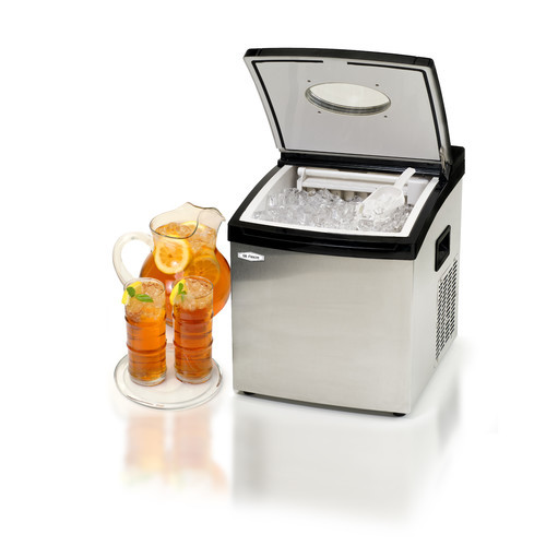 Maximatic Mr. Freeze Stainless Steel and Black Compact Counter Top Portable Ice Maker -Makes 25 Pounds of Ice